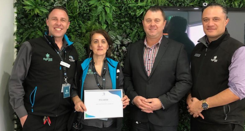 Congratulations to Security Officer Rita Ciantar