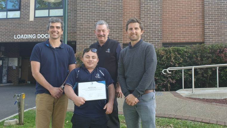 Congratulations to General Assistant – Site Supervisor Nicholas Lees